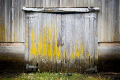 Old barn gate in farm. Ndisused porton stock image