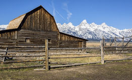 Old barn in Grand Teton National Park Stock Photos