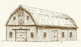 Free Old Barn. Hand Drawn Illustration. Stock Photo - 103345620