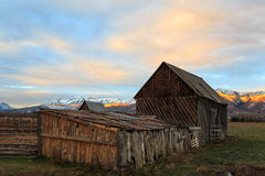 Old Barn in Heber Valley, Utah, USA. Royalty Free Stock Photos