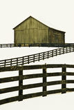 Old barn at horse stables farm Stock Photo