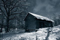 Free Old Barn In Winter Stock Image - 14570431