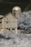 Old barn in infrared Royalty Free Stock Photo