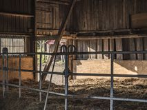 An old barn from the inside royalty free stock photo