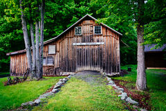 Old barn at Millbrook Village, at Delaware Water Gap National Re Stock Photos