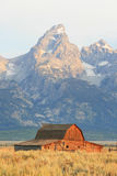 Old barn and mountain Stock Images