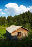 Old barn in the mountains Stock Photos