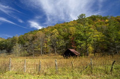 Old Barn in the Mountains Royalty Free Stock Images