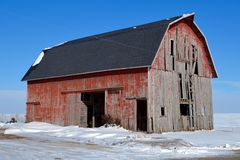 Old Barn New Roof Stock Photos