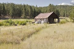 Old Barn On Oregon Ranch Royalty Free Stock Image