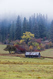 Old barn on over cast day. royalty free stock photo