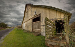 Old Barn, Panoramic Color Image Royalty Free Stock Photo