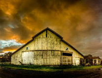 Old Barn, Panoramic Color Image Royalty Free Stock Images