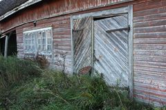 Old barn. In Pohjanmaa Finland in the month of September Royalty Free Stock Photography