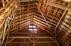 Old Barn Rafters. The legendary Sugardale barn in rural southern Minnesota Stock Images