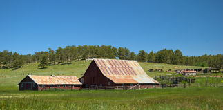 Old Wyoming Barn and Ranch Stock Images