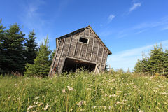 Old barn ready to fall Stock Photography