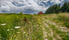 Old Barn Road Royalty Free Stock Images