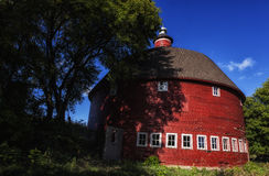 Old Barn - 20. An old round barn in rural Rogers Minnesota Stock Image