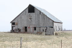 Old barn. In Rural Iowa Royalty Free Stock Image