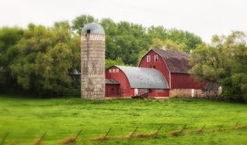 Old Barn - 17. An old barn in rural Minnesota or Wisconsin Royalty Free Stock Images