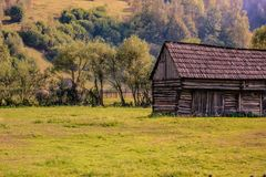 That old barn in the rural Romania Stock Images