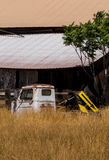 Old barn and rusted truck. Stock Images