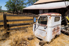 Old barn and rusted truck. Royalty Free Stock Images