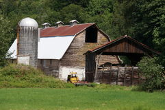 Old Barn. A rustic barn still stands after many years Royalty Free Stock Photo