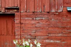 Old barn rustic wooden wall. A typical old rustic weathered wooden farm barn exterior wall Royalty Free Stock Photography