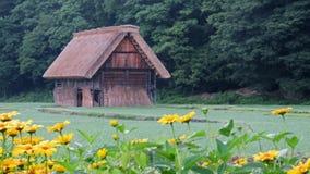 Old barn in Shirakawa go in Japan Stock Photo