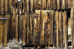 Old Barn Siding and Door Stock Image
