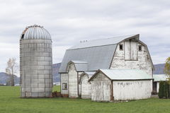 Old barn and silo Royalty Free Stock Image