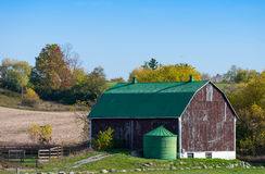 Old barn and silo Stock Photography