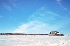 Old barn and snow, Canada Royalty Free Stock Photography