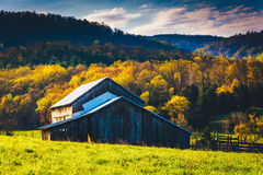Old barn and spring colors in the Shenandoah Valley, Virginia. Royalty Free Stock Photo