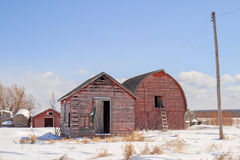 Old barn and storage shed Stock Photo
