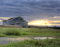 Old Barn at Sunrinse Stock Images