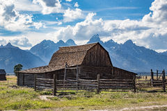 Old Barn in the Tetons Royalty Free Stock Photo