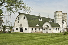 Old Barn With Twin Silos Royalty Free Stock Photo