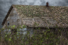 Old Barn Under Stormy Skies Royalty Free Stock Photography