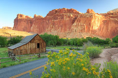 Old Barn in the Utah desert. Royalty Free Stock Photography
