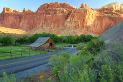 Old Barn in the Utah desert. Royalty Free Stock Photo