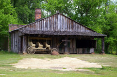 Old barn and wagon Royalty Free Stock Photo