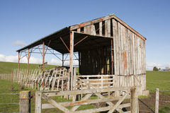 Old Barn. An old weathered barn on a farm Royalty Free Stock Photography