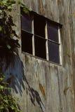 Old barn window Stock Photo