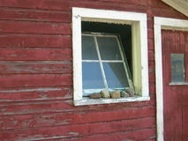 Old barn window Stock Image