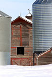 Old Barn in Winter. Saskatchewan Royalty Free Stock Photo