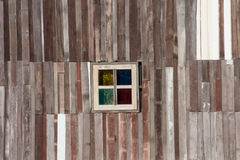 Old barn wood window. For background use royalty free stock images