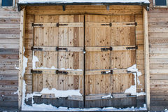 Old barn wooden gates Royalty Free Stock Photography